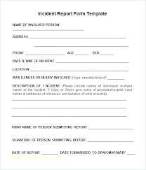 Security Incident Report Sample And Employee Injury Incident Report