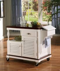 kitchen island cart white. 910013 Chefs Helper White Finish Wood Kitchen Island Cart With Louvered  Design Doors And Casters