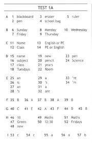 Решебник ГДЗ Ответы test booklet spotlight класса Ответы на  test 1a