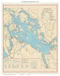 Amazon Com Lake Winnipesaukee 1966 67 Navigation Map