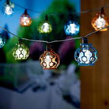 Solar Home Light Set Smart Solar Gala Lantern Solar String Light Set With Stake