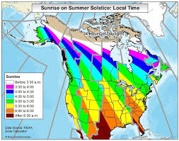 Noaa Sunrise Sunset Chart How Much Daylight Will You Receive On The Summer Solstice