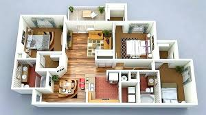 3d small house design plan house design luxury 3 bedroom floor plans bedroom small house plan d showy small bungalow house design 3d