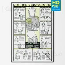 Chest Chart Gym Art Chest Workout Pectorals Professional Fitness Gym Wall