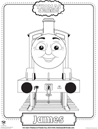 Colouring Pages Of James In Thomas Tank Google Search Thomas De