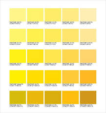 Yellow Cmyk Color Chart Pms Color Chart Cmyk In 2019 Pms Color Chart Shades Of