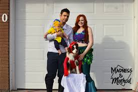 i made diy family costumes this year in the theme of disney s the little mermaid