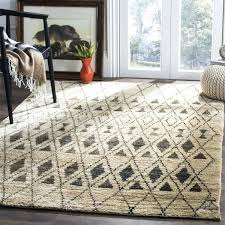 wool and jute rug hand knotted tangier ivory black wool jute rug pottery barn chunky wool