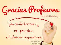 tarjeta de agradecimientos palabras de agradecimiento a una profesora o profesor por su labor
