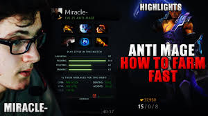 miracle dota 2 play anti mage item build hard carry pro youtube
