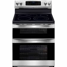 kenmore double oven. kenmore elite 97313 6.9 cu. ft. double-oven electric range w/ true convection - stainless steel w black trim double oven sears