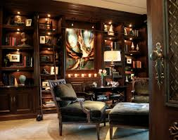 classic home office design. traditional home office with wooden octagon ceiling and awesome classic design n