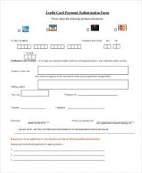 Credit Consent Form Credit Card Payment Authorization Form Template Charlotte Clergy
