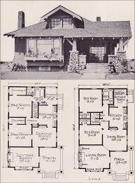 craftsman floor plans. 1922 Stillwell - L-114 Craftsman Floor Plans H