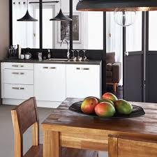 Cuisine Ikea Noir Et Blanc Admirable Cuisine Noir Et Bois Elegant