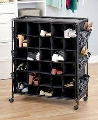 ... Large Rolling Shoe Storage Fashionable Organizer Shoes Rack Cubbies  Space Saver ...