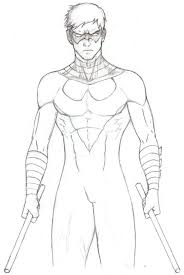 colorings co nightwing coloring pages coloring nightwing pages