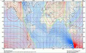 Magnetic Declination Chart Magnetic Declination Magnetic Inclination Magnetic Dip
