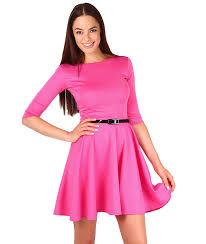 Les robes sophistiquées et confortables. Krisp Femmes Mini Robe Patineuse Manche 3 4 Elegante Saly Services International