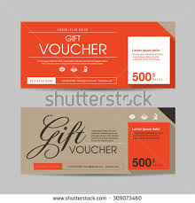 coupon design vector illustrationgift voucher template colorful patterngift stock