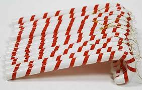 Large Candy Cane Decorations Plastic Candy Cane Ornaments with Hangers Pkg 60 Candy Canes 19
