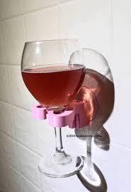 wine glass holder for shower wine caddy bridesmaid gift bathtub caddy wine glass rack wall mounted wine gifts bath wine holder