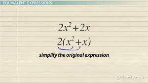 writing equivalent expressions definition examples lesson transcript study com