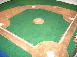 baseball field rug custom wall to carpet in boys b r yelp