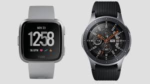 Samsung Watch Comparison Chart Fitbit Versa V Samsung Galaxy Watch Stylish Smartwatches