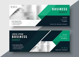 Business Banner Design Green Abstract Business Banner Design Template Download Free
