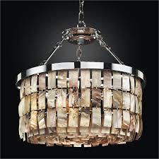 drum shape oyster shell chandelier la jolla 619hm19sp