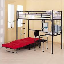 metal bunk bed with desk. Wonderful Bunk Coaster Max Twin Over Futon Metal Bunk Bed With Desk In Black Finish Inside With T