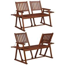 2 seater furniture patio bench chair