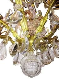 19th century gilt bronze and crystal chandelier from the spelling manor in good condition for