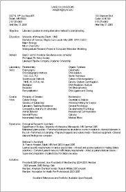 Biology Resume Template Best Biology Resumes Templates Entry Level Biology Resume