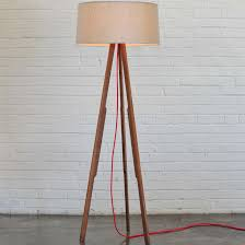 awesome tripod floor lamp design ideas featuring modern style with drum brown lamp shade and 3 wooden tripod
