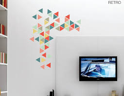 Small Picture Geometric Triangles Vinyl Wall Sticker Set Contemporary Wall