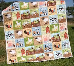 The 25+ best Farm quilt ideas on Pinterest | Farm quilt patterns ... & Farm Quilt Boy Tractor Blanket Cows Horses Barn Country Life. $139.00, via  Etsy. Adamdwight.com