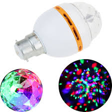 Rotating Disco Light Crystal Like Mini Light Auto Rotating Party Disco Bar Ballroom Stage Lighting Effect B22 E27 Led Rgb Stage Lamp Stage Light L0576 Disco Lighting