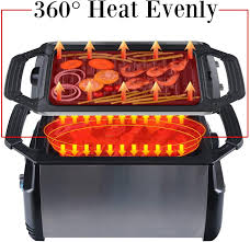 Open grills and contact grills. Electric Indoor Grill With Removable Non Stick Plate Infrared Heating Smokeless Technology Bbq Grill Home Improvement Amazon Com
