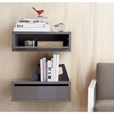 floating bedside shelf with drawer 16