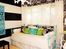 teenage bedroom ideas black and white. Eclectic Black And White Bedroom With Damask Wallpaper Hgtv Inside The Elegant Teens Room Gold Intendedor Teenage Ideas E