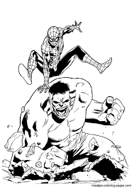 Small Picture Thing Vs Hulk Coloring Pages Coloring Coloring Pages