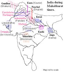 Map Of India During Ramayana And Mahabharata India Map