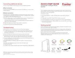 Frontier Modem Lights Quick Start Guide Frontier Communications Manualzz Com