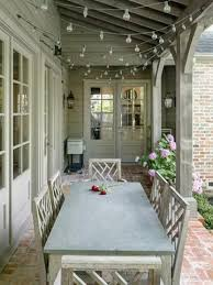 french country outdoor lighting. french country house tour pretty covered patio really like the string lights outdoor lighting