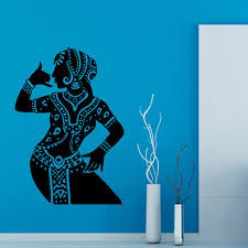 Small Picture Aliexpresscom Buy DCTOP Indian Woman Buddha Dance Wall Stickers