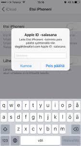 ICloud: Laitteen poistaminen, etsi iPhoneni apista