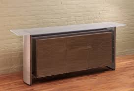 white walnut office furniture. Contemporary Glass Credenza In Stainless Steel, Metal And Walnut, From A Office Furniture White Walnut
