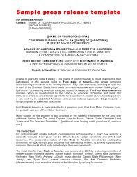 sample press release template local press release template